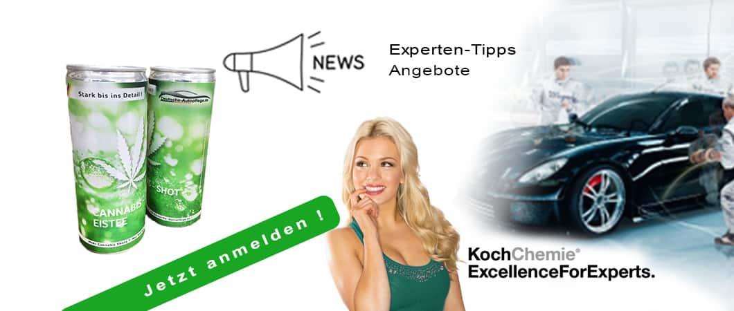 Bild Newsletter Deutsche Autopflege anmelden und Koch Chemie