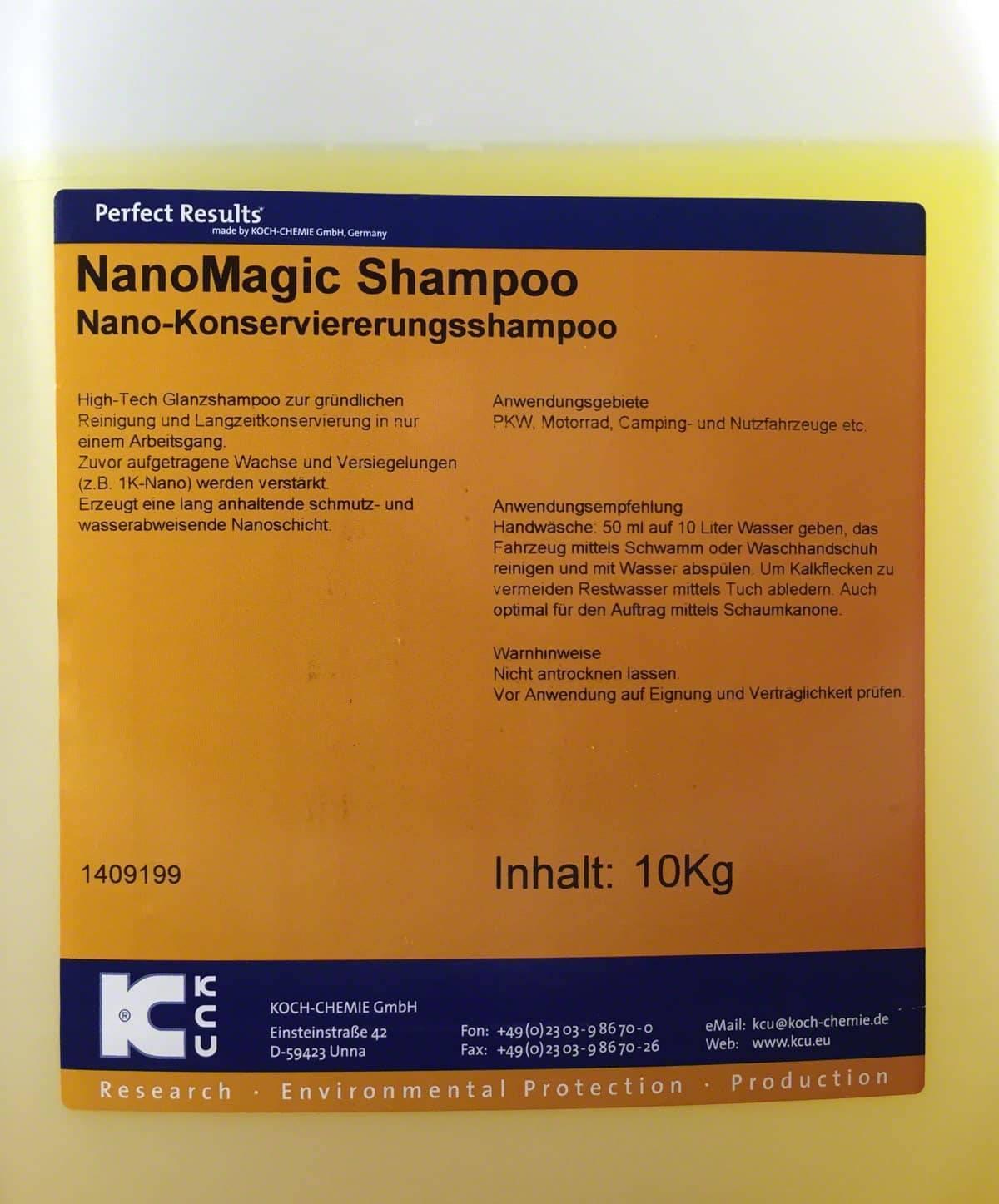 koch chemie nano magic shampoo nms 10kg deutsche. Black Bedroom Furniture Sets. Home Design Ideas