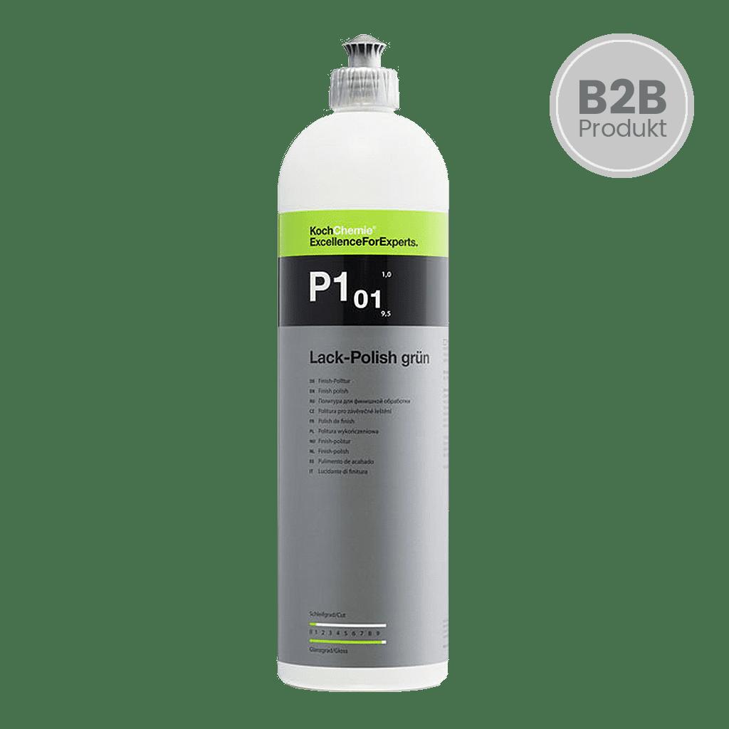 Flasche Koch Chemie P1.01 P101 Lack-Polish Grün Finish Politur für Autolacke mit Daimler Zulassung 1l