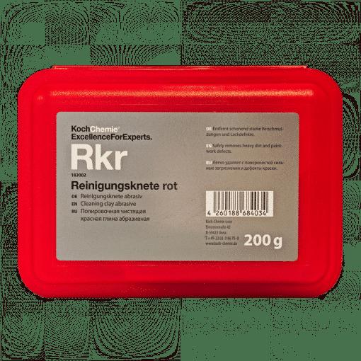 Koch Chemie Reinigungknete Rot Rkr 200g - Lackpflegeknete für die Autoaufbereitung professionell - 200g