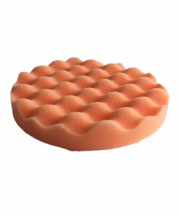 Bild von KochChemie® – Antihologrammschwamm orange, gewaffelt Ø 135 mm x 25 mm Vorderseite