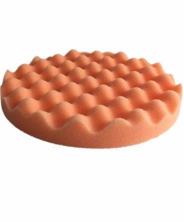 Bild von KochChemie® – Antihologrammschwamm orange, gewaffelt Ø 160 mm x 25 mm Vorderseite