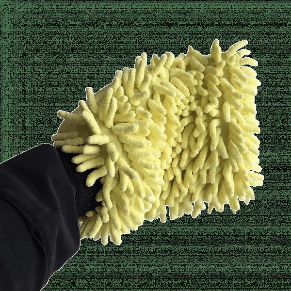 Profi Waschhandschuh Mikrofaser Gelb