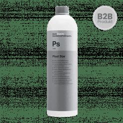 Eine Flasche Koch Chemie Plast Star die Premium Kunststoffpflege für den Außenbereich in der KFZ Aufbereitung im 1l Gebinde