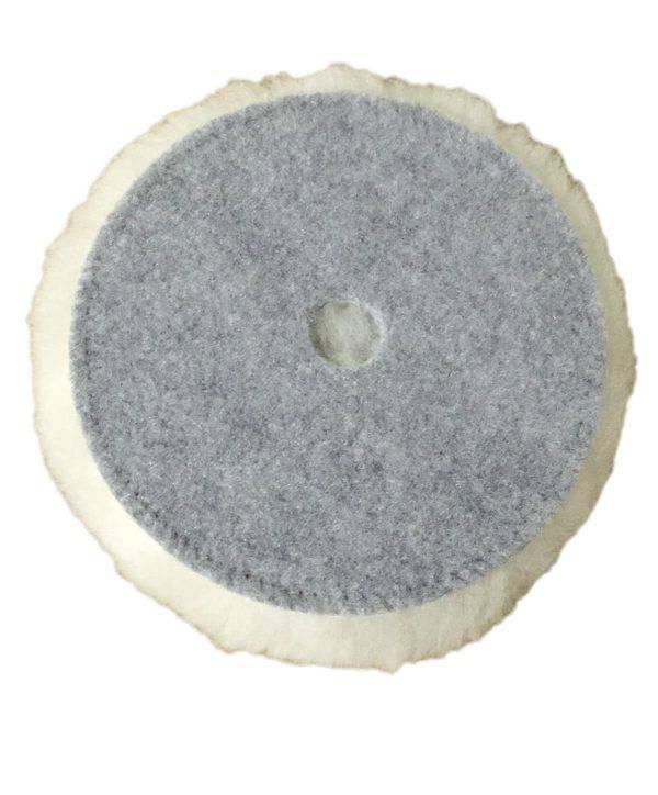 Bild von KochChemie® – Lammfell-Pad Ø 150 mm mit Loch – Polierfell Rückseite