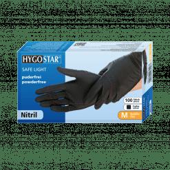 Hygostar Nitirl Handschuhe Handschutz Einmalhandschuhe Schwarz