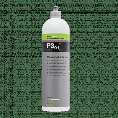 Koch Chemie P3.01 Micro Cut and Finish Schleifpolitur Anti Hologramm mit Carnauba Wachs die Maschinenpolitur Auto Lackpolitur Lackpflege Autoaufbereitung 1l