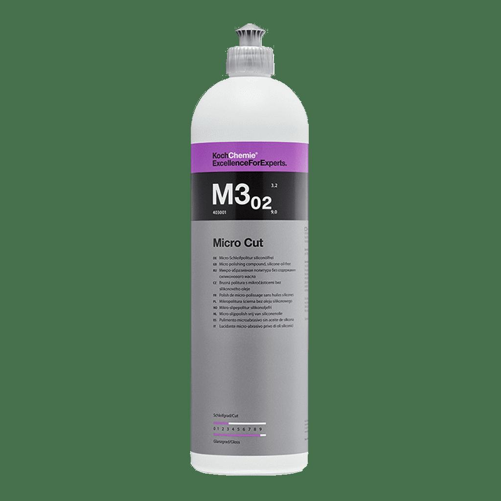 Flasche Koch Chemie M3.02 Micro Cut Mikro-Schleifpolitur siliconölfrei für die Autolackpolitur 1l