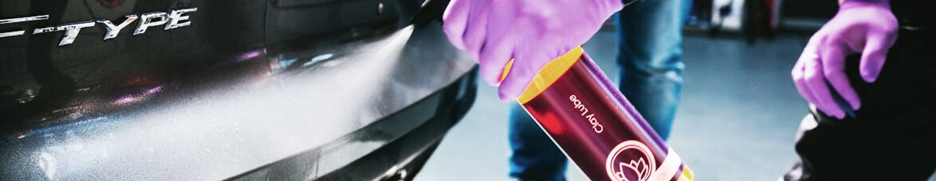 Reinigungsknete zur Lackpflege und tiefporigen Lackreinigung abrasiv und nicht abrasiv in als Rote Reinigungsknete und Blaute Autoreinigungsknete